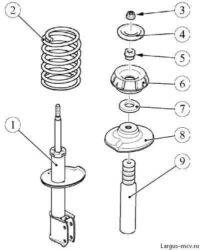 передняя стойка - амортизатор