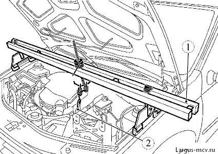 Снятие привода КПП (кулисы) Lada Largus / Лада Ларгус