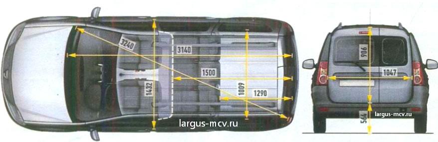 Высота багажника лада ларгус