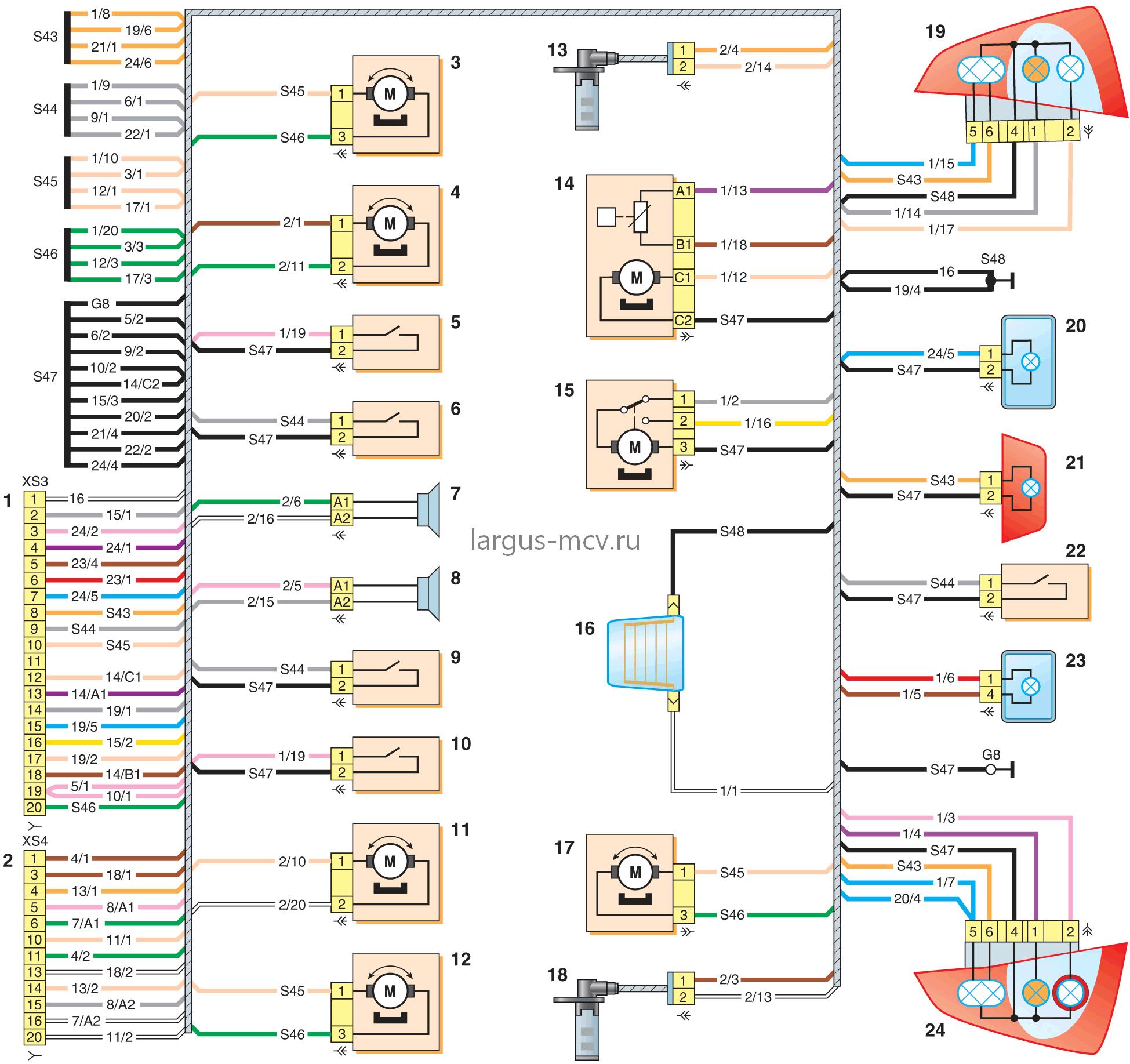 Электрическая Схема Логан -