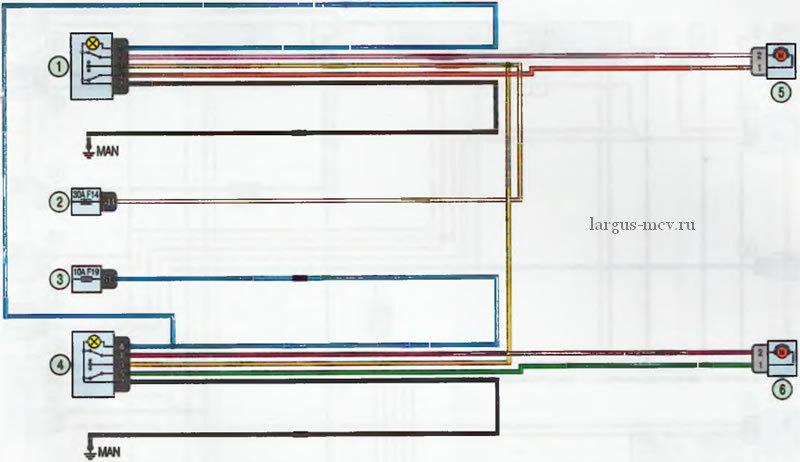 схема стеклоподъёмников