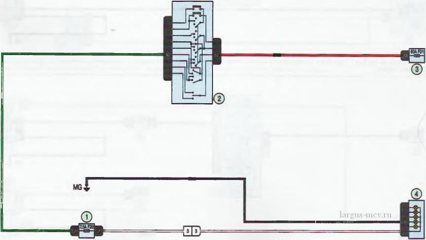 Схема 10. Задний