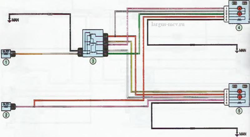 Электросхема - Зеркала заднего