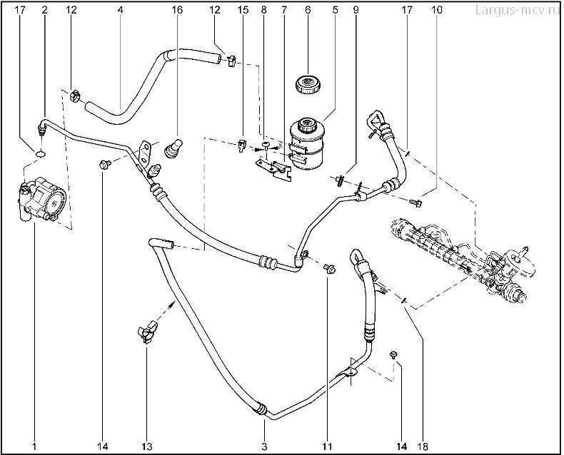Гидроусилитель рулевого управления363310 (каталог запчастей Лада Ларгус)